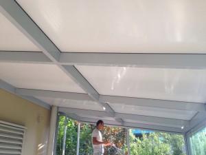 kapalı çatı teras